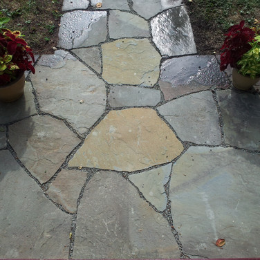 Mosaic Natural Stone Walkway In West Hartford, CT