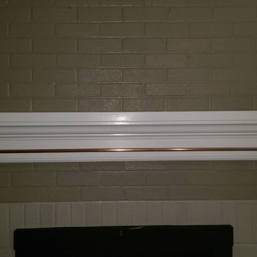 Custom Mantle with Copper Inlay
