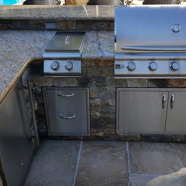 Granite Counter with Blaze Appliances