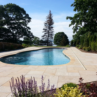 Beautiful Granite Patio Pool Surround in Branford, CT