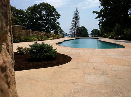Dimensional Cedar Lake Granite Stone Patio Pool Surround