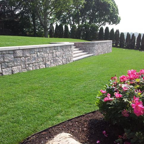 Stone Veneer Wall