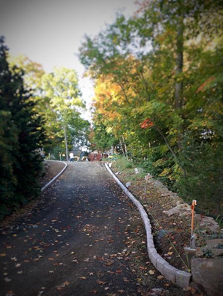 Granite Cobblestone Driveway Edging in Braford CT