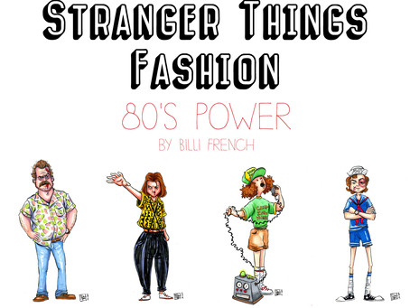 Stranger Things Fashion - Illustrated Series