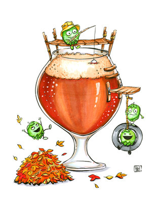 Hoppy-Autumn-Beer-Art