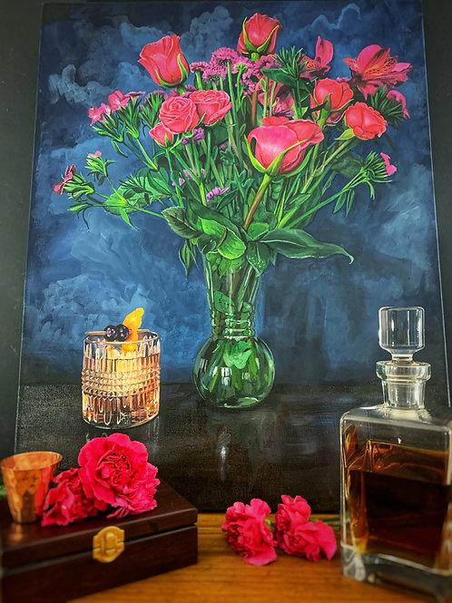 Whiskey & Pinks - Original Painting