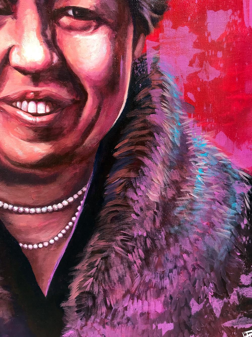 Eleanor Roosevelt Portrait Painting view 3