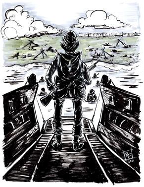 D-Day-Soldier-Art