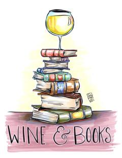 Wine-And-Books-Art