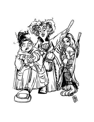 Three Spooky Sisters