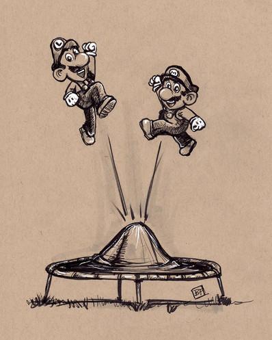 Super Mario Trampoline
