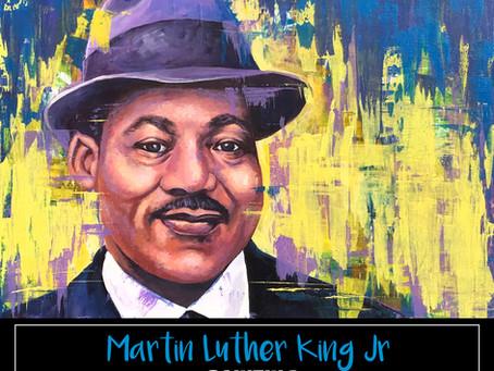 MLK Jr Portrait Painting