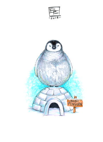 Adorable-Baby-Penguin-Art