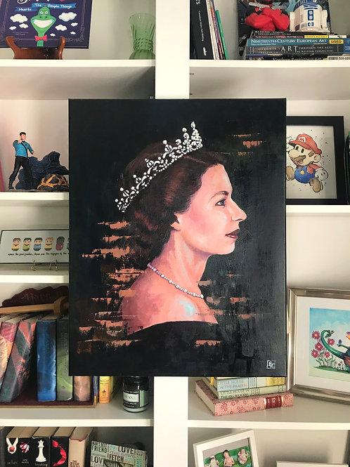 Queen Elizabeth II Portrait Painting