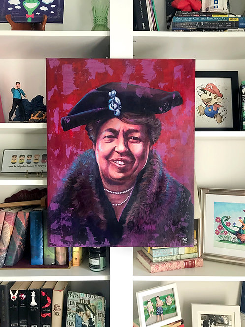Eleanor Roosevelt Portrait Painting