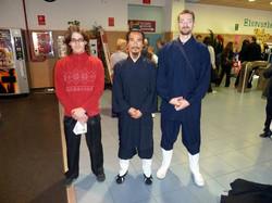 César, Elías y shifu Yuan Xiu Gang