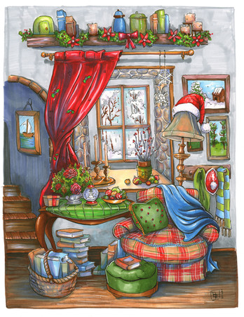 Cozy-Christmas-Holiday-Drawing