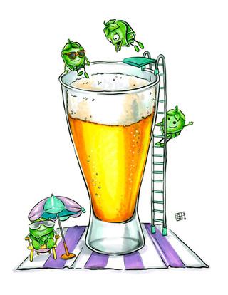 Hoppy-Summer-Beer-Art