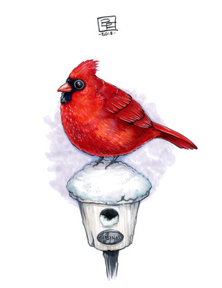 Adorable-Cardinal-Art