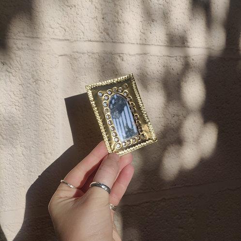 Handmade Moroccan Pocket Mirror - Arch