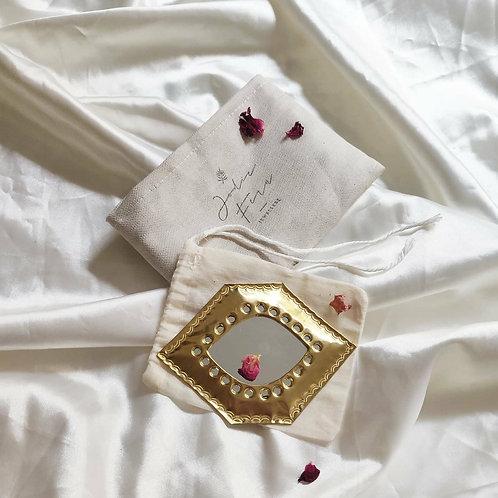 Handmade Moroccan Pocket Mirror - Eye