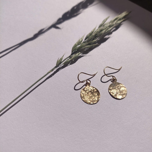 Handmade Gold Filled Hammered Disc Earrings – Large