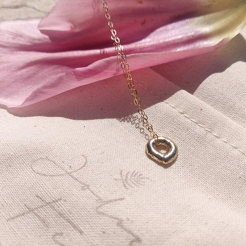 Handmade 9ct Gold Mini Molten Necklace