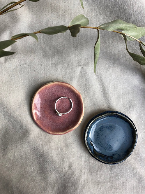 Ellie Joy Ceramics - Handmade Trinket Dishes - Jasper Blue Or Dusty Pink