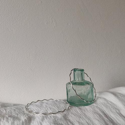 Handmade 100% Recycled Silver Wave Bangle