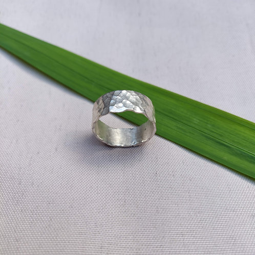 Handmade Sterling Silver Chunky Hammered Ring
