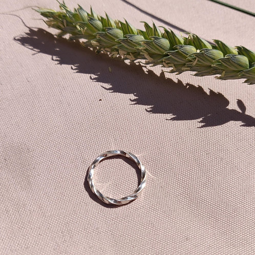 Handmade Sterling Silver Twisted Stacking Ring