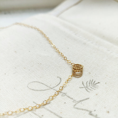 Handcrafted Gold Filled Twisted Links Necklace - Customisable