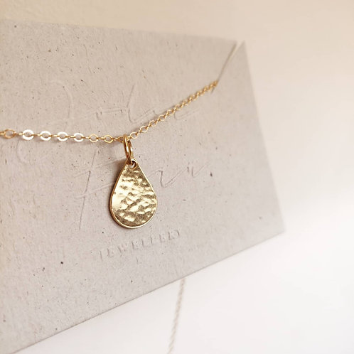 Handmade Recycled Gold Vermeil Teardrop Necklace
