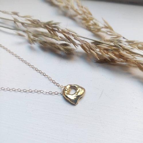 Handmade Good Vermeil Molten Necklace