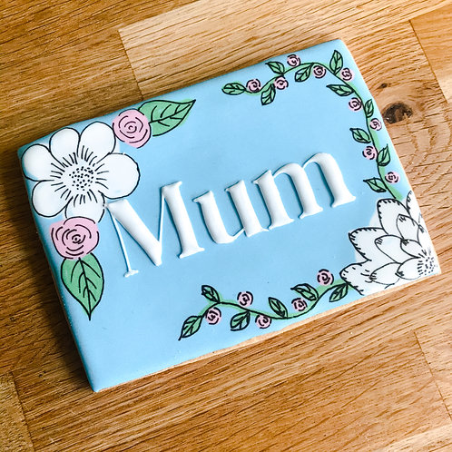 Better With A Biscuit - 'Mum' Floral Biscuit -Extra Large