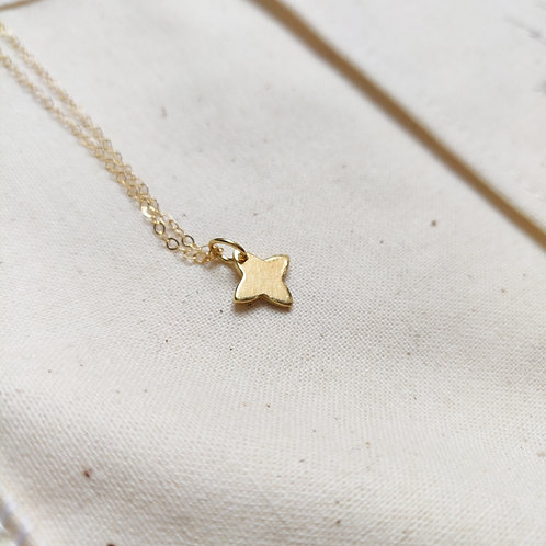 Handmade Gold Plated Silver Mini Star Necklace
