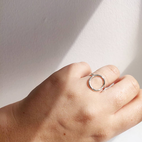 Handmade 100% Recycled Silver Open Circle Ring