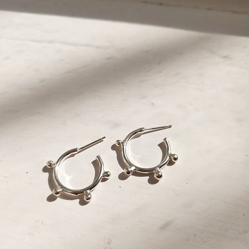 Handmade Sunshine Hoops in Recycled Silver or Gold Vermeil