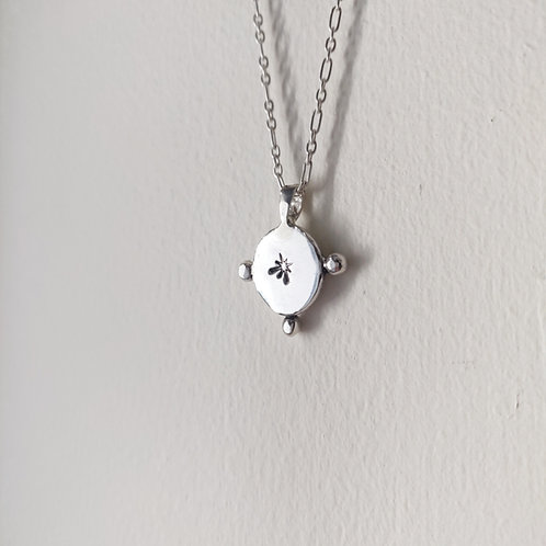 Handmade Recycled Silver Northern Star Necklace