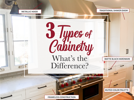 3 Cabinetry Styles - What's the Difference?