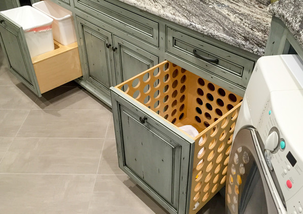 Laundry room hampers