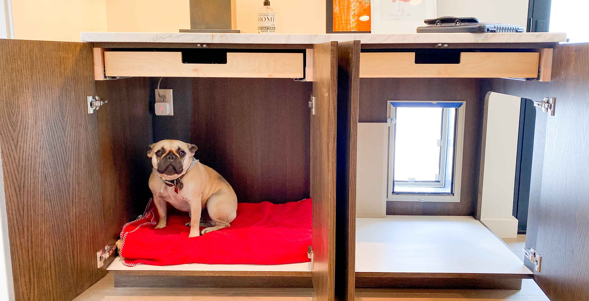 Winston's dog cabinetry