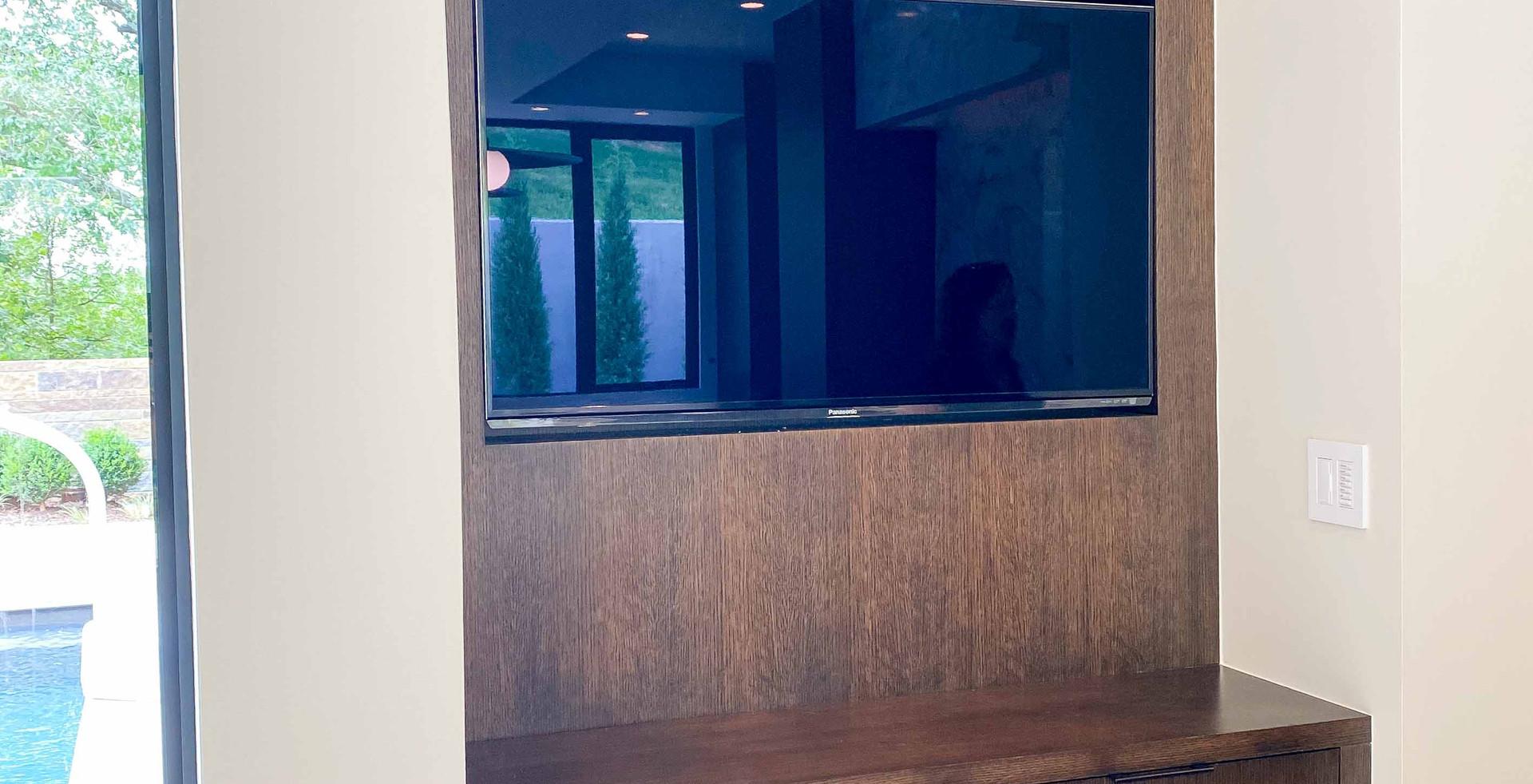 TV cabinet in kitchen