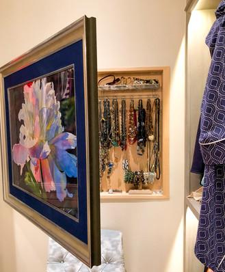 Jewelry Case behind art