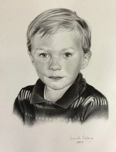 Theo - charcoal on paper
