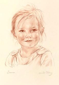 Sienna. Sanguine on paper.
