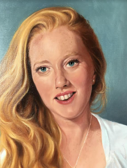 close up of Robyn, Oil on canvas