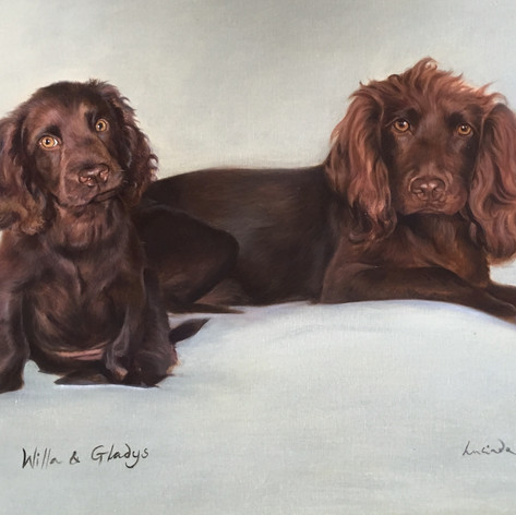 Willa and Gladys - Oil on canvas. Commis