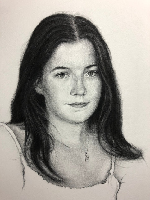Eliza Fermoy - Charcoal on paper