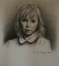 Flo - Charcoal on paper
